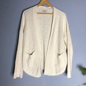 Madewell xs Knit Open Cream Cardigan Sweater